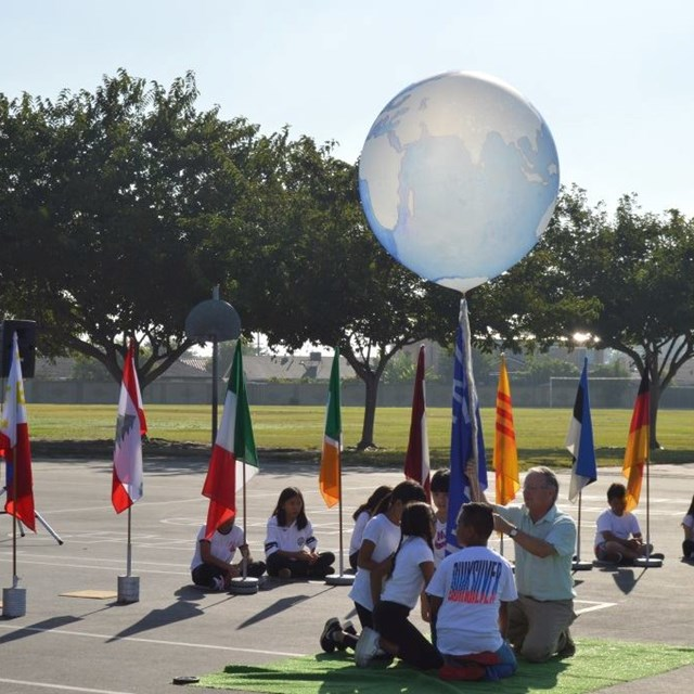 Carrillo students learn about other countries as part of the school's annual Day of Peace celebration!