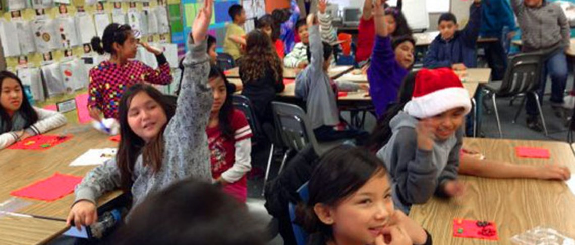 Carrillo students engage in a classroom discussion.