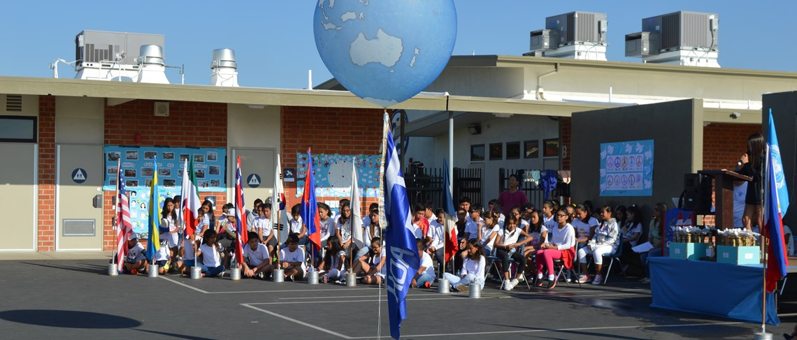 Carrillo students look forward to the school's annual Peace Day assembly